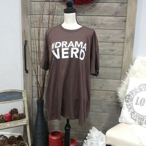 #Drama Nerd Brown Shirt Unisex